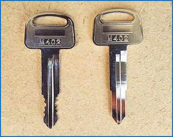 バイクの鍵を作製する